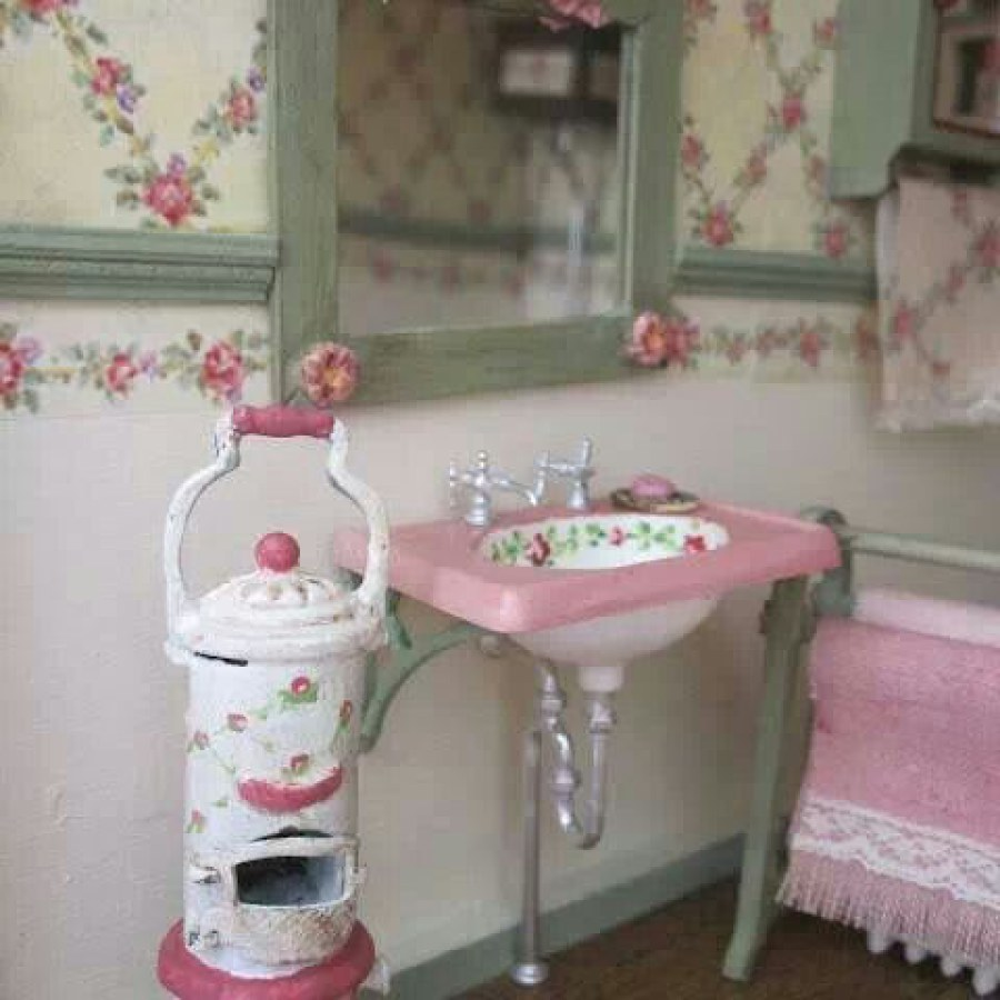 DIY Country Bathroom Pink Ideas