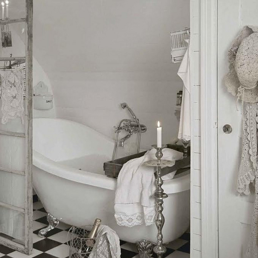 Country Bathroom DIY White Decor Ideas