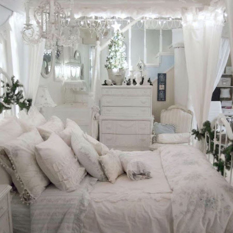 White Shabby Chic Bedroom Project Decor Ideas