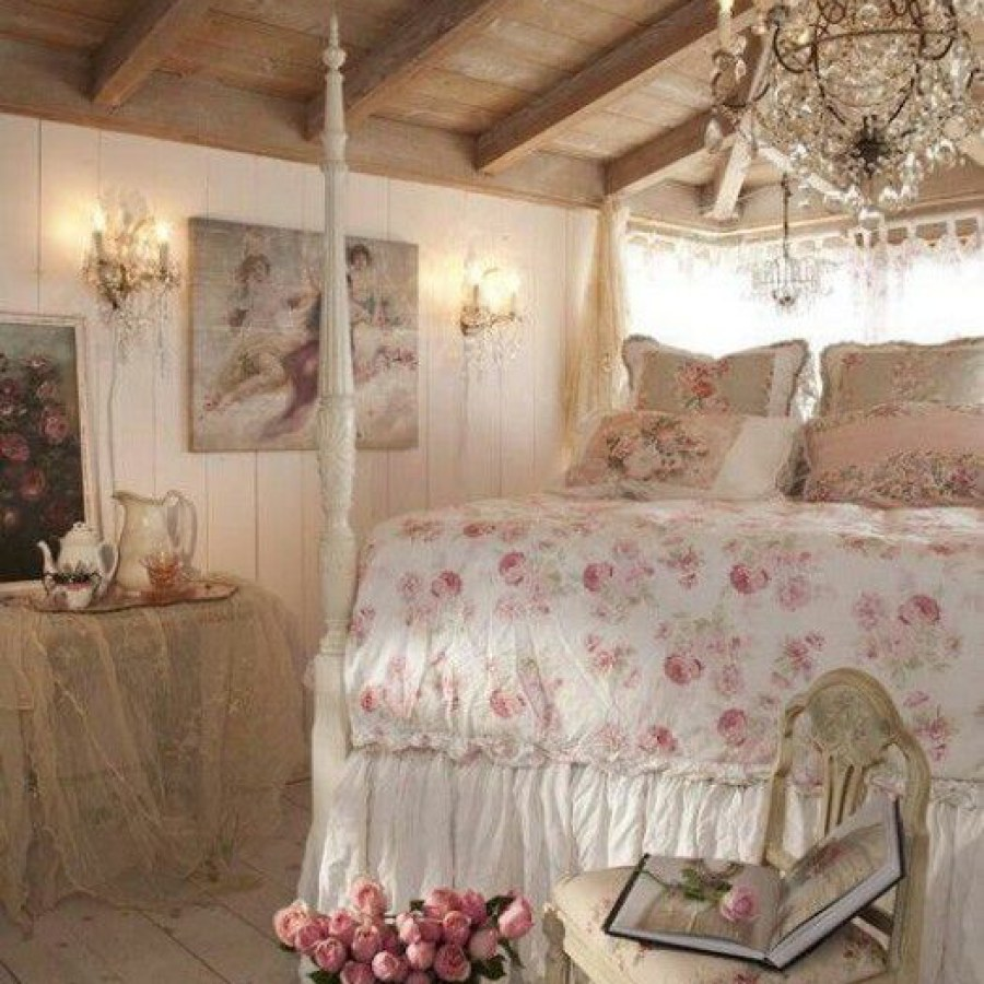 Shabby Chic Bedroom Chandelier Project Ideas