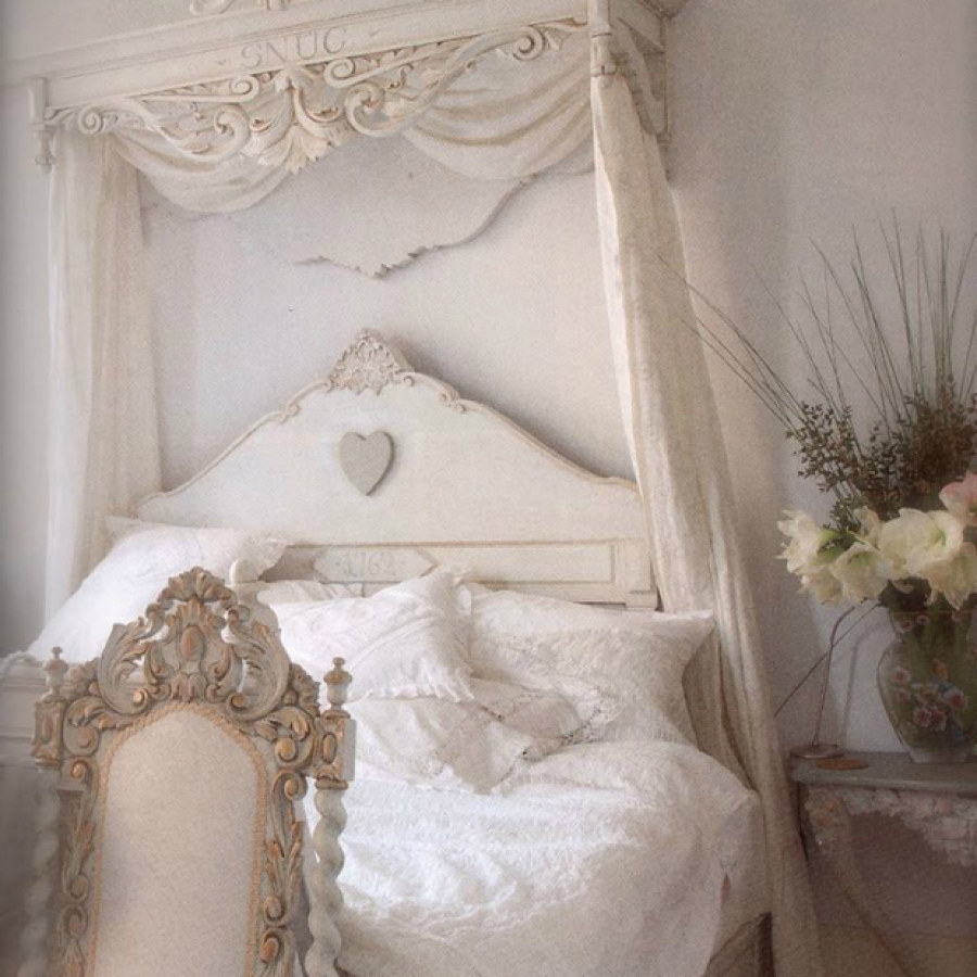 White Shabby Chic Bedroom Project Ideas