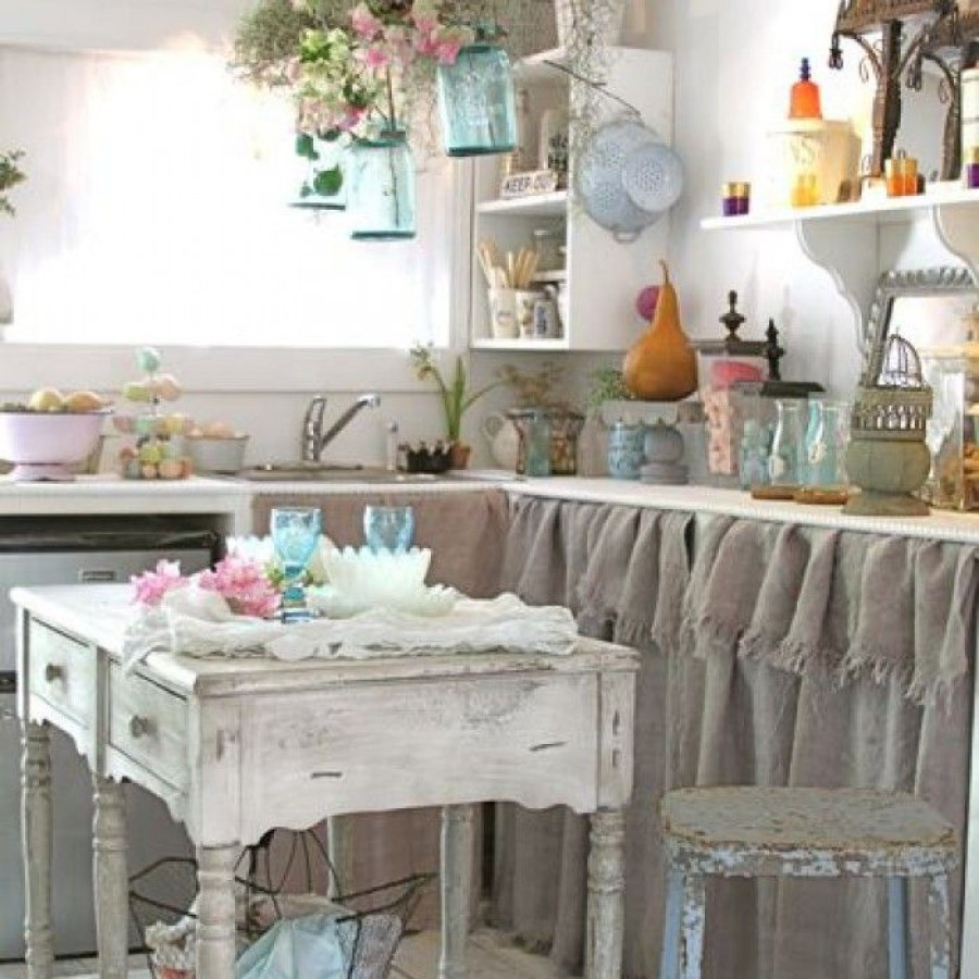 Shabby Pastel Kitchen DIY Decors