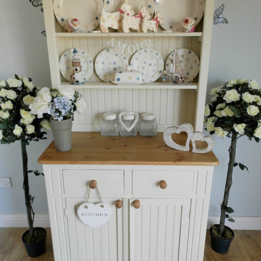 Shabby White Kitchen Cabinet DIY Decor Ideas