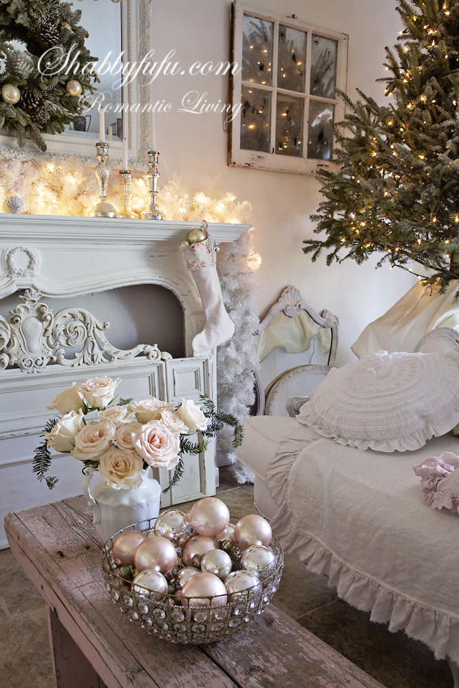 White Shabby Chic Christmas